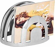 Wohnling Design Deko Zeitungsständer silber Zeitungshalter aus Aluminium