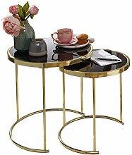 Wohnling Design Satztisch CORA Schwarz/Gold