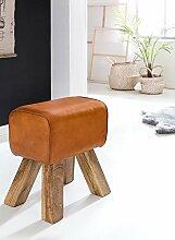 Wohnling Design Turnbock Sitzhocker, braun, 40 x