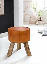 Wohnling Design Turnbock Sitzhocker, Echtleder,