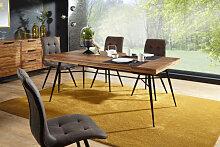 WOHNLING Esstisch NISHAN Holz 200x77x100 cm