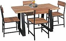 Wohnling Esszimmer-Tisch Baumstamm Massivholz