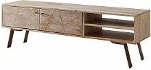 Wohnling HiFi Lowboard SIKAR Mango Massivholz