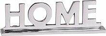Wohnling Home Deko Schriftzug Design Wohnzimmer Ess-Tisch- Dekoration Wohnung Alu Aluminium Wohndeko 22 cm Aluminiumfigur Dekoschrift elegant Wohndeko Esszimmer modern Designdekoration silber