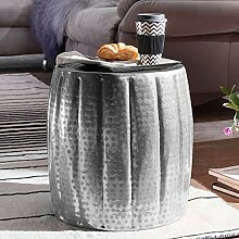 Wohnling Jamal Beistelltisch, Aluminium, Silber,