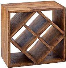 Wohnling Kano Weinregal, Holz, Braun, 40x40x25 cm