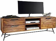 Wohnling Lowboard Nishan 160x54x40 cm Sheesham