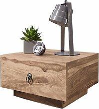 WOHNLING Nachttisch Massiv-Holz Akazie Design