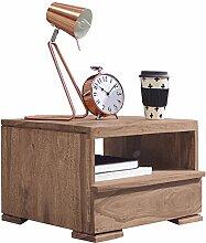 WOHNLING Nachttisch Massiv-Holz Akazie
