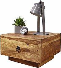 WOHNLING Nachttisch Massiv-Holz Sheesham Design