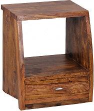 WOHNLING Nachttisch MUMBAI Massiv-Holz Sheesham