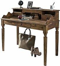 Wohnling Schreibtisch KADA Massivholz Sheesham,