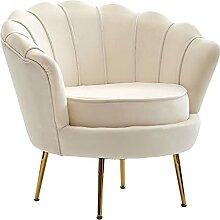 Wohnling Sessel Tulpe Samt Weiß 81 x 77 x 81 cm