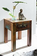 Wohnling Shabby-Chic Nachttisch mit Schublade,