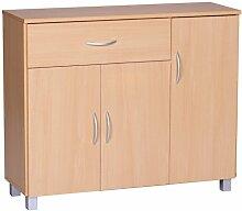 Wohnling Sideboard Jarry 1 Schublade 3 Türen tief