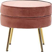 Wohnling Sitzhocker Samt Pink 51x46x51 cm