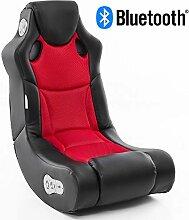 Wohnling Soundchair in Schwarz Rot mit Bluetooth |