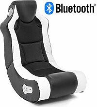 Wohnling Soundchair in Schwarz Weiß mit Bluetooth