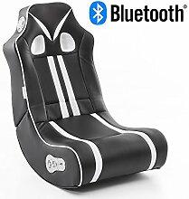 Wohnling® Soundchair Ninja in Schwarz Weiß mit