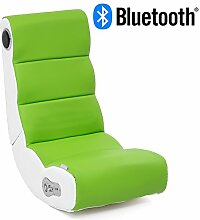 Wohnling® Soundchair Wobble in Weiß Lime mit