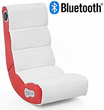 Wohnling® Soundchair Wobble in Weiß Rot mit