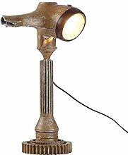 WOHNLING Tischlampe WL3.123 Braun 57cm Eisen