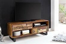 Wohnling TV Lowboard Patna, mit Schubladen, 120 x 47 x 40 cm, Holz