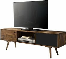 Wohnling TV Lowboard Repa, 140 cm, braun/schwarz