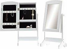 Wohnling WL5.722 Spiegelschrank, Glas, Weiß, 33 x