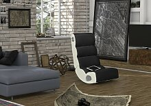 Wohnling WOBBLE Soundsessel 2.1 | Gaming Multimedia Rocking Chair | Music Rocker Soundchair |Multimediasessel Weiß & Schwarz