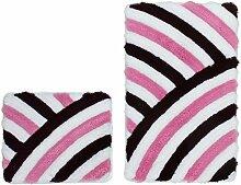 Wohnorama 55x135 Badezimmer Teppich Set 2-TLG mit