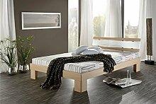 Wohnorama ROLLER Futonbett RHONE 140x200 cm Sonoma Eiche Betten Schlafzimmer