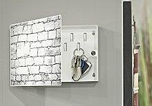 Wohnorama Schlüsselkasten Mauer von Haku Metall