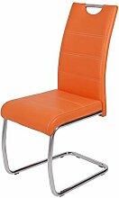 Wohnorama Schwingstuhl 4er Set FLORA S von Hela Orange