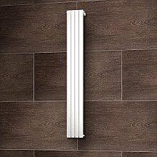 Wohnraum-Heizkörper Rom, Anschluss unten seitlich, 200x31 cm, 752 Watt Leistung, alpin-weiß, Design-Heizkörper für Zweirohrsysteme