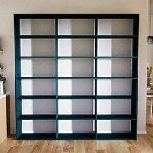 Wohnwand Blau - Individuelle Designer-Regalwand: