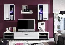 Wohnwand Final Lux Wohnzimmer Anbauwand in weiß