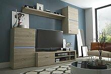 Wohnwand INTEL, Anbauwand, Wohnzimmer Möbel, mit