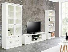 Wohnwand Landström 150 weiß 3-teilig Lowboard