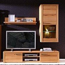 Wohnwand TV Anbauwand Kernbuche Massivholz
