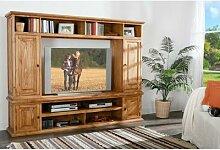Wohnwand TV-Wand MEXICO, Landhausstil Möbel,