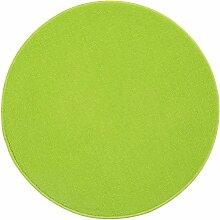 WOHNWOHL® Teppich Basic I Deko-Teppich I Schlingenteppich I Wohn-Teppich I Feinschlingen I Farbe Lime