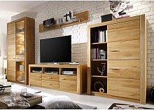 Wohnzimmer Anbauwand aus Asteiche modern