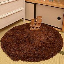 Wohnzimmer Arbeitszimmer Schlafzimmer Nacht Decke Teppich runden massiven dicken LNS Chenille Teppiche Computer Stuhl Decke Teppich Stuhl hängenden Korb Durchmesser von 140 cm Skid