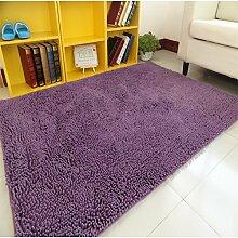 Wohnzimmer Couchtisch Bett Schlafzimmer Teppich/ Erker Sofakissen/Lange Verschlüsselung Chenille Teppich-H 65x160cm(26x63inch)