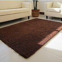 Wohnzimmer Couchtisch Bett Schlafzimmer Teppich/ Erker Sofakissen/Lange Verschlüsselung Chenille Teppich-J 160x230cm(63x91inch)