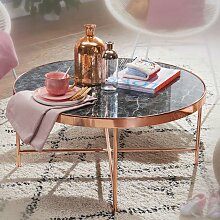 Wohnzimmer Couchtisch in Kupferfarben runder
