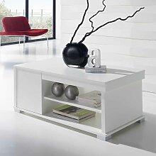 Wohnzimmer Couchtisch in Weiß Tischplatte