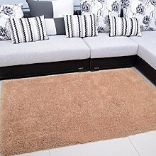 Wohnzimmer Couchtisch Teppich Schlafzimmer Nacht Teppich-Shop für europäische und amerikanische Art-140 × 200cm ( Farbe : Dark Beige )