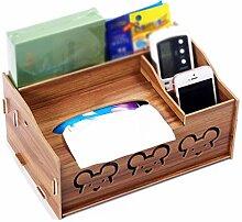 Wohnzimmer Couchtisch Tissue Box Kreative Holz